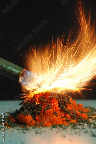chemical volcano Fototapete