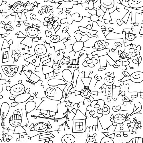 Children's drawing - seamless pattern #22321894