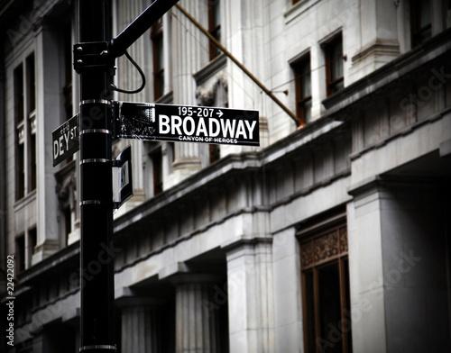 Broadway sign Fototapete