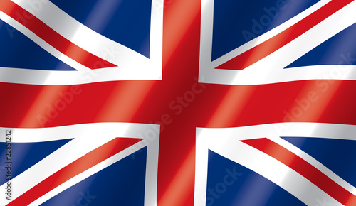 Valokuva British Flag Flowing