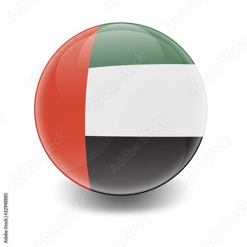 Foto Esfera brillante con bandera Emiratos Arabes Unidos
