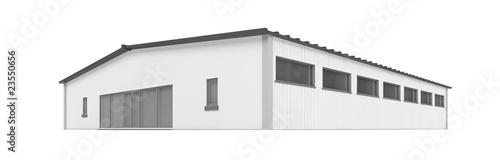 Obraz na płótnie big hangar over white