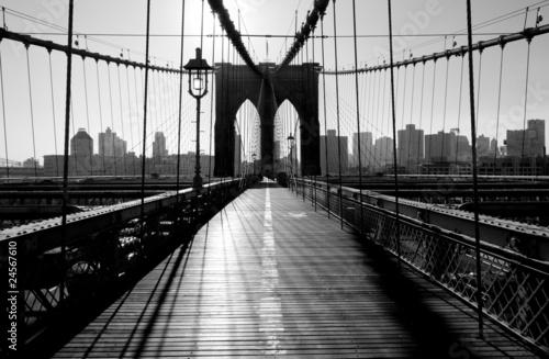 Naklejka premium Most Brookliński, Manhattan, Nowy Jork, USA
