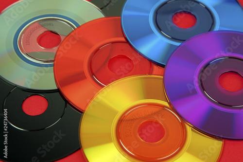 Colored mini cd's & dvd's #24736404