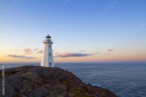 Canvas Print The Cape Spear lighthouse