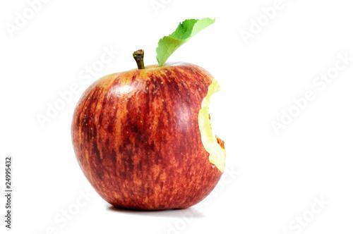 Carta da parati Red apple with bite