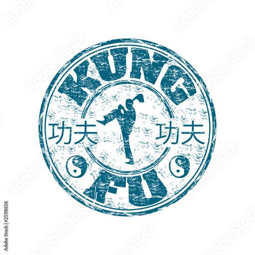 Fotografia Kung Fu rubber stamp