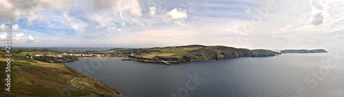 Fotografia Stitched Panorama Port Erin Bay Isle of Man