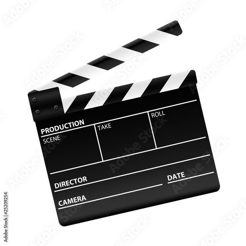 Fotografiet Movie clapper board