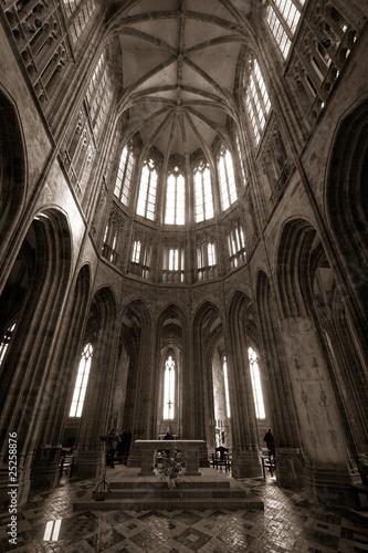 Fotografie, Obraz intérieur abbaye mont saint michel