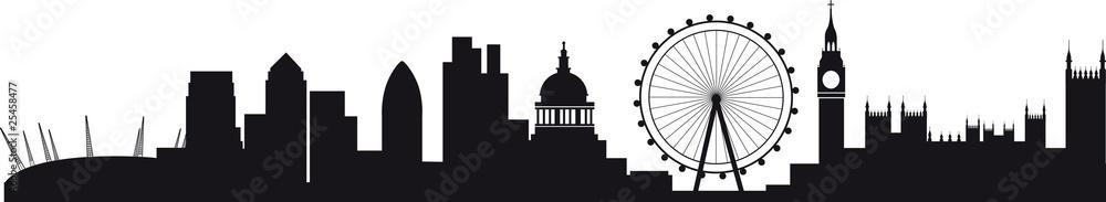 Szczegółowa sylwetka panoramę Londynu <span>plik: #25458477 | autor: barneyboogles</span>