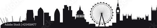 Photo Detailed silhouette of london skyline