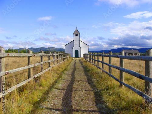 Country church in the prairies