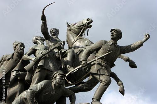 Monument to heroes of civil war in Russia in Samara City Fototapeta