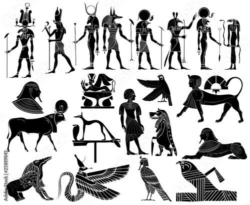 Photo Various themes of ancient Egypt