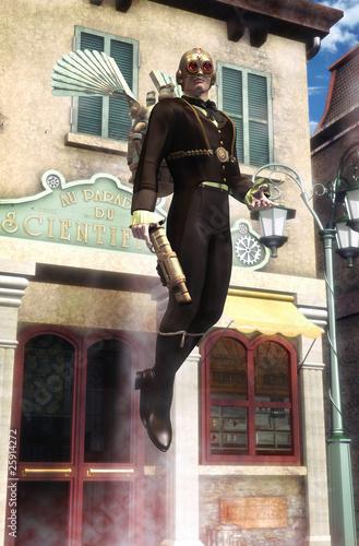 Obraz na płótnie steampunk science fiction