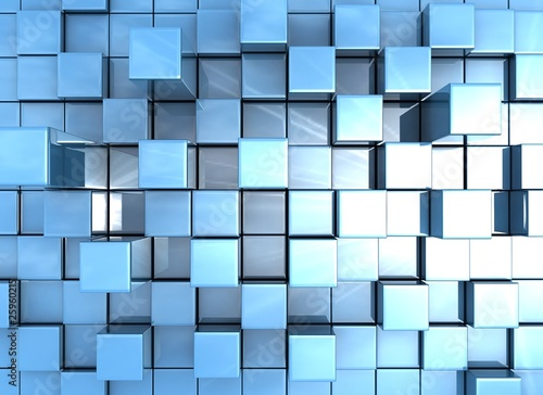 abstract background of 3d cubes
