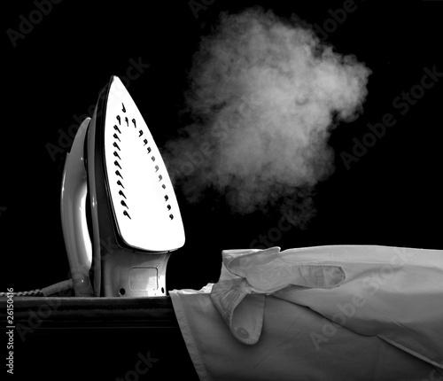 Obraz na plátně ironing clothes housework equipment