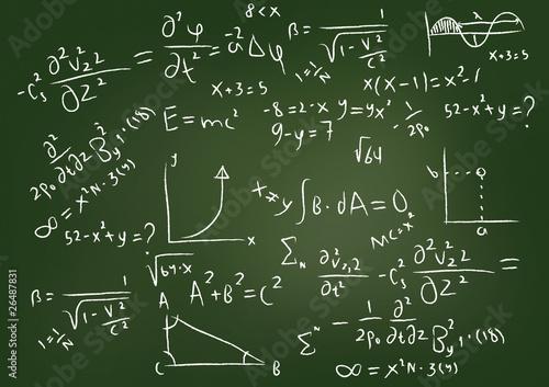 Wallpaper Mural Equations