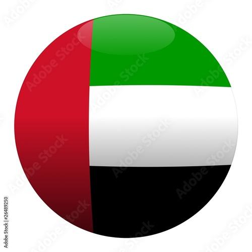 Foto boule émirats arabes unis drapeau emirates ball