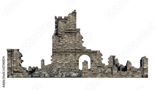 Fotografia ruine freigestellt