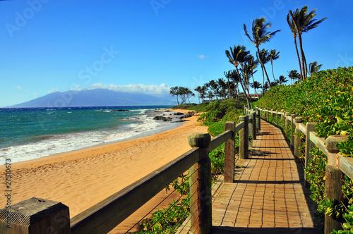 Carta da parati Wailea Beach Walkway, Maui Hawaii