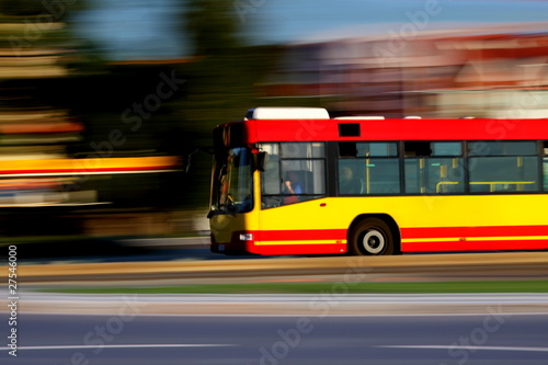 City bus and public transportation