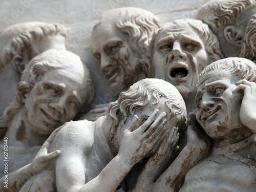 Orvieto - Duomo facade. fourth pillar with the Last Judgment. Fototapeta