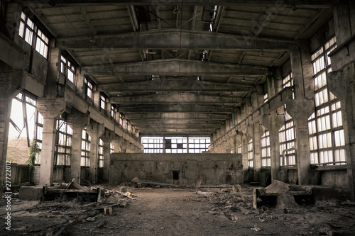 Carta da parati Abandoned Industrial interior