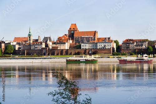 Panorama of Torun -Vistula river,Poland