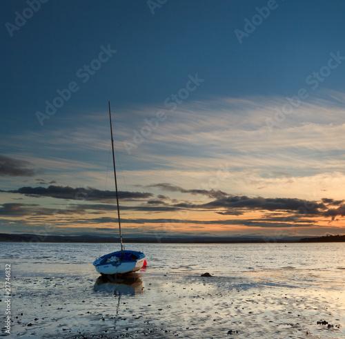 Tablou Canvas Sunset at Findhorn bay