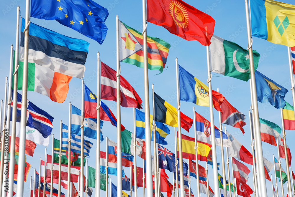 Flags of the world of many nations and countrys