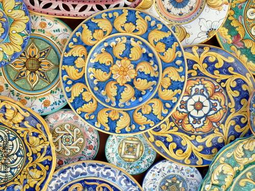piatti decorati di ceramica Fototapeta