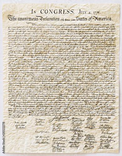 Valokuvatapetti Declaration of Independence