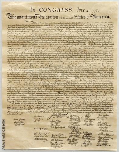 Tableau sur Toile Declaration of Independence