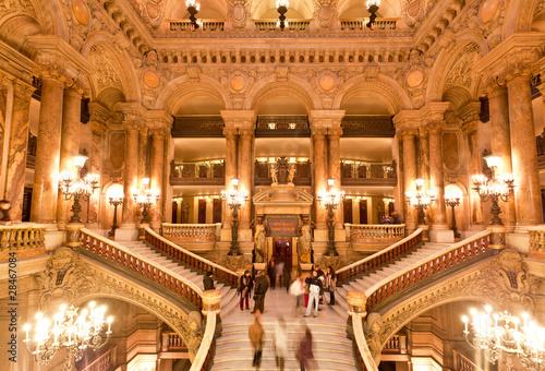 Obraz na płótnie the interior of grand Opera in Paris
