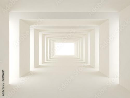 Photo tunnel of light
