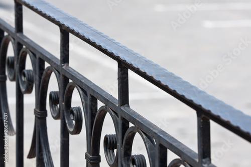Valokuvatapetti Old iron banister