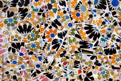 Floral Mosaic Pattern Fototapet
