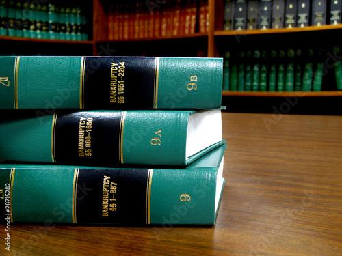 Carta da parati Law Books on Bankruptcy
