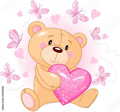 Teddy Bear with love heart #29149098