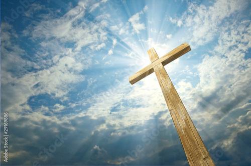 Fotografia, Obraz cross against the sky