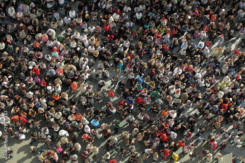 crowd from bird´s view Fototapeta