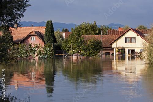 Stampa su Tela Flooded houses