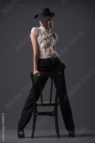 woman cabaret dancer Fototapet