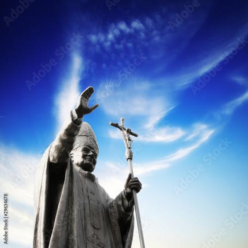Obraz na płótnie Statue of Pope