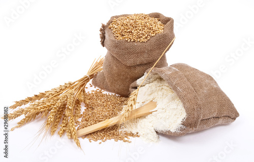 Carta da parati Flour and wheat grain