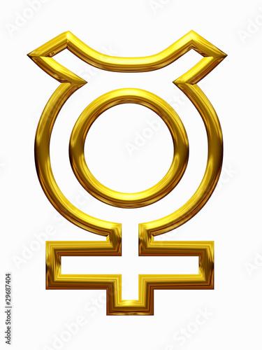 Photo Merkur Planetensymbol