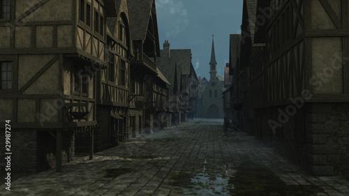Fotografia, Obraz Mediaeval Street Scene - 1