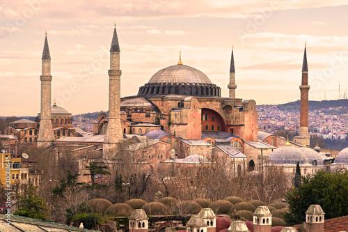 Hagia Sophia mosque, Istanbul, Turkey. Fototapeta